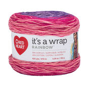 Go to Product: Red Heart It's a Wrap Rainbow Yarn in color Parfait