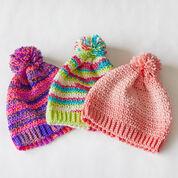 Red Heart Crochet Ombre Hat, S