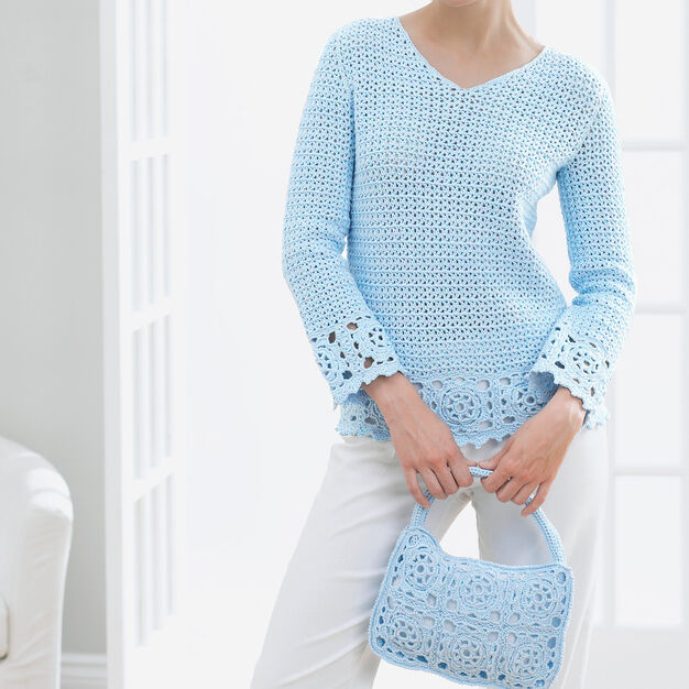 Patons Lacy Tunic and Purse, Purse in color