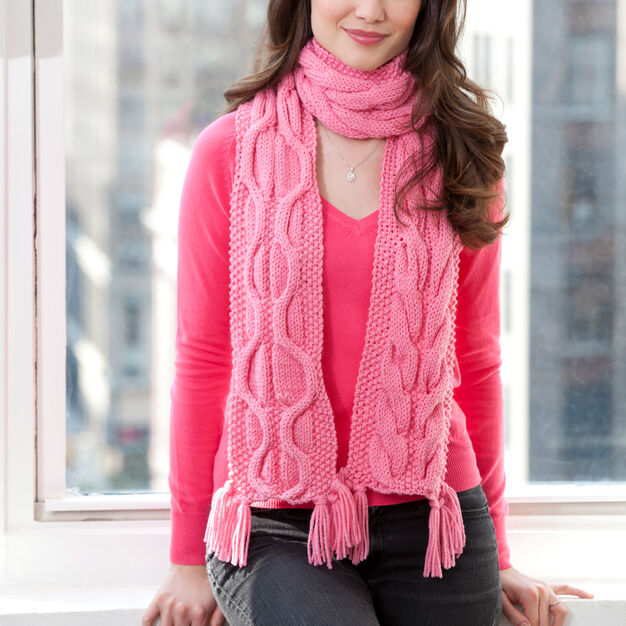 Red Heart Compassion Scarf in color
