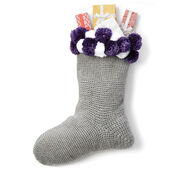 Caron Crochet Pompom Stocking