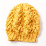 Caron Shaker Cable Hat