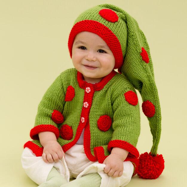Red Heart Santa's Baby Elf, 3 mos in color