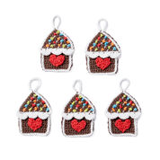 Lily Sugar'n Cream Gingerbread House Crochet Ornaments