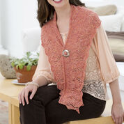 Red Heart Lily Crescent Shawlette