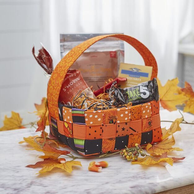 Dual Duty Woven Halloween Basket in color
