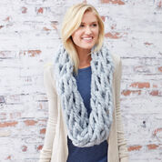 Red Heart Comfy Arm-Knit Cowl