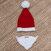 Red Heart Baby Santa Hat with Beard, S
