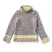 Caron Crochet Cowl Neck Sweater, XS/S