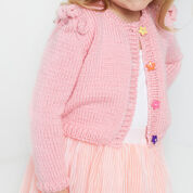 Red Heart Ruffled Shoulder Cardigan ,2 yrs