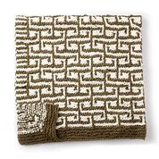 Bernat Let it Slip Knit Blanket