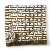 Bernat Let it Slip Knit Blanket