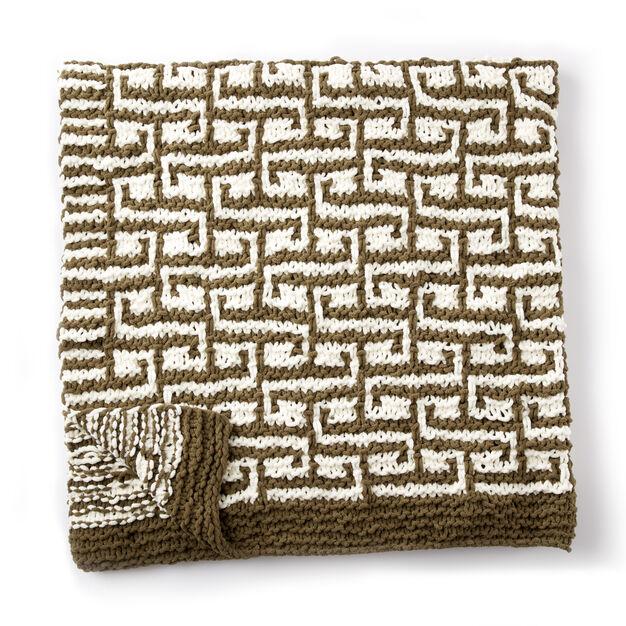 Bernat Let it Slip Knit Blanket Pattern | Yarnspirations