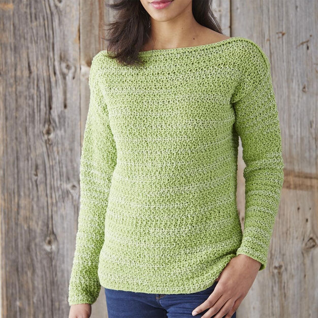 Patons Boat Neck Pullover, XS/S in color