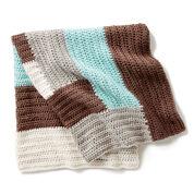 Bernat Log Cabin Crochet Baby Blanket
