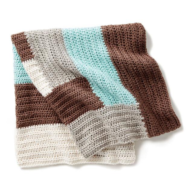 Bernat Log Cabin Crochet Baby Blanket Yarnspirations