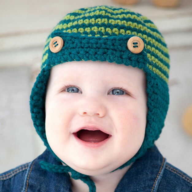 Red Heart Baby Sherlock Hat, 12 mos in color