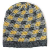 Patons Plaid Slouchy Beanie, 2/4 yrs