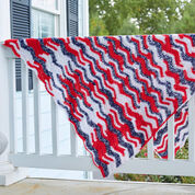 Red Heart American Waves Throw