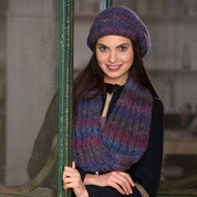 Red Heart Slouchy Hat & Reversible Cable Cowl