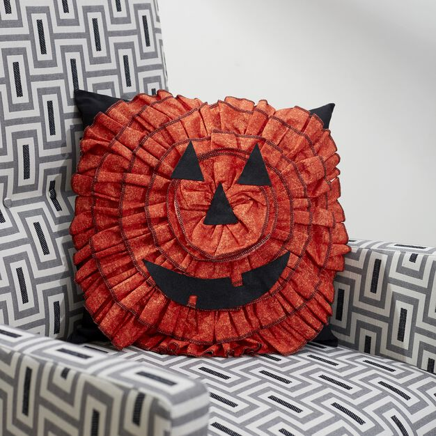 Dual Duty Jack-o-lantern Pillow in color