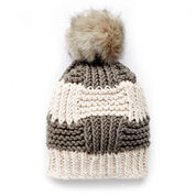 Bernat Box Stitch Knit Hat, Child