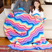 Go to Product: Red Heart Rainbow Waves Throw in color