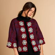Go to Product: Patons Sigulda Tunisian Crochet Jacket, XS/S/M in color