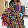 Bernat Color Lovers Afghan, Version 1 in color  Thumbnail Main Image 4}