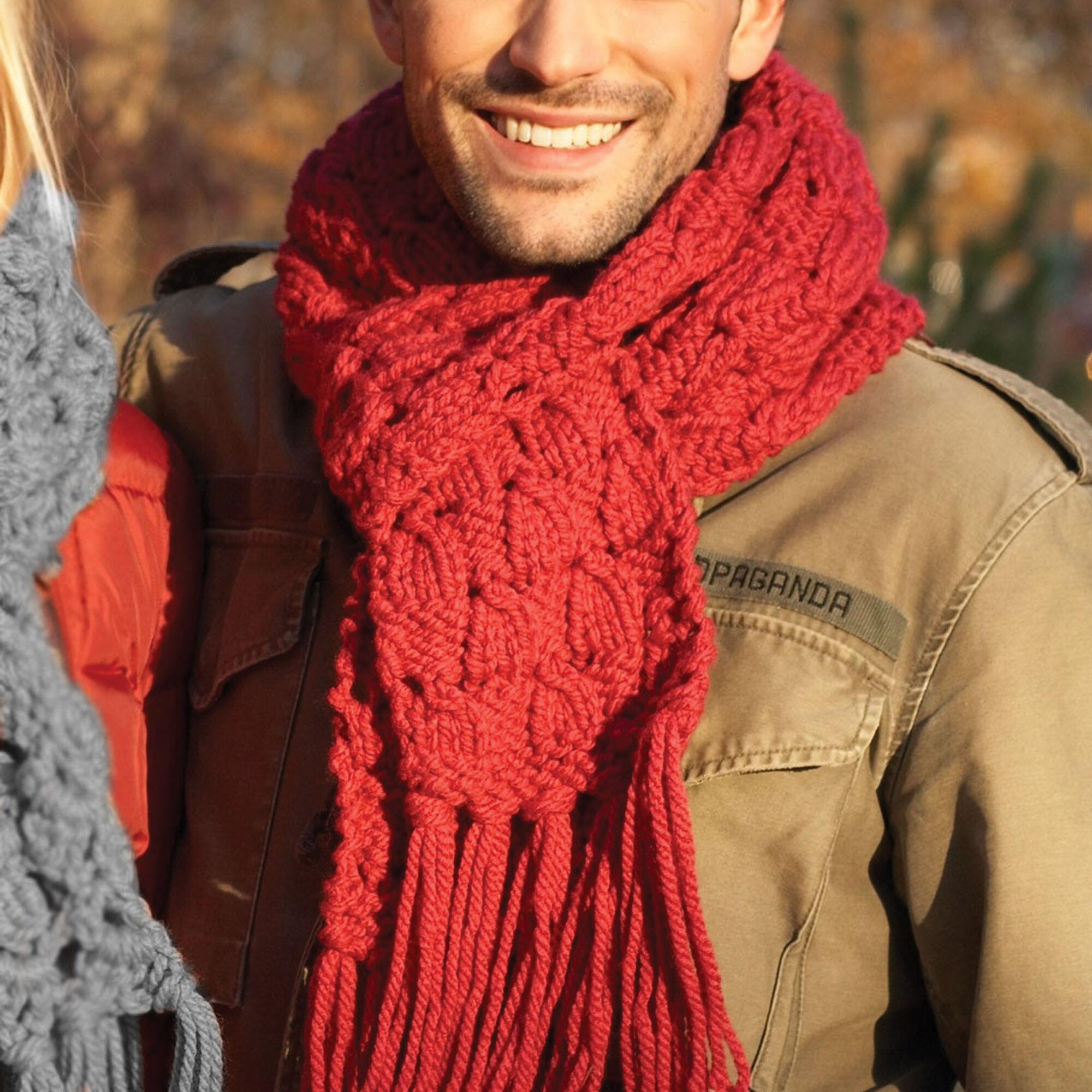 Bernat Easy Knit Scarf Pattern   Yarnspirations