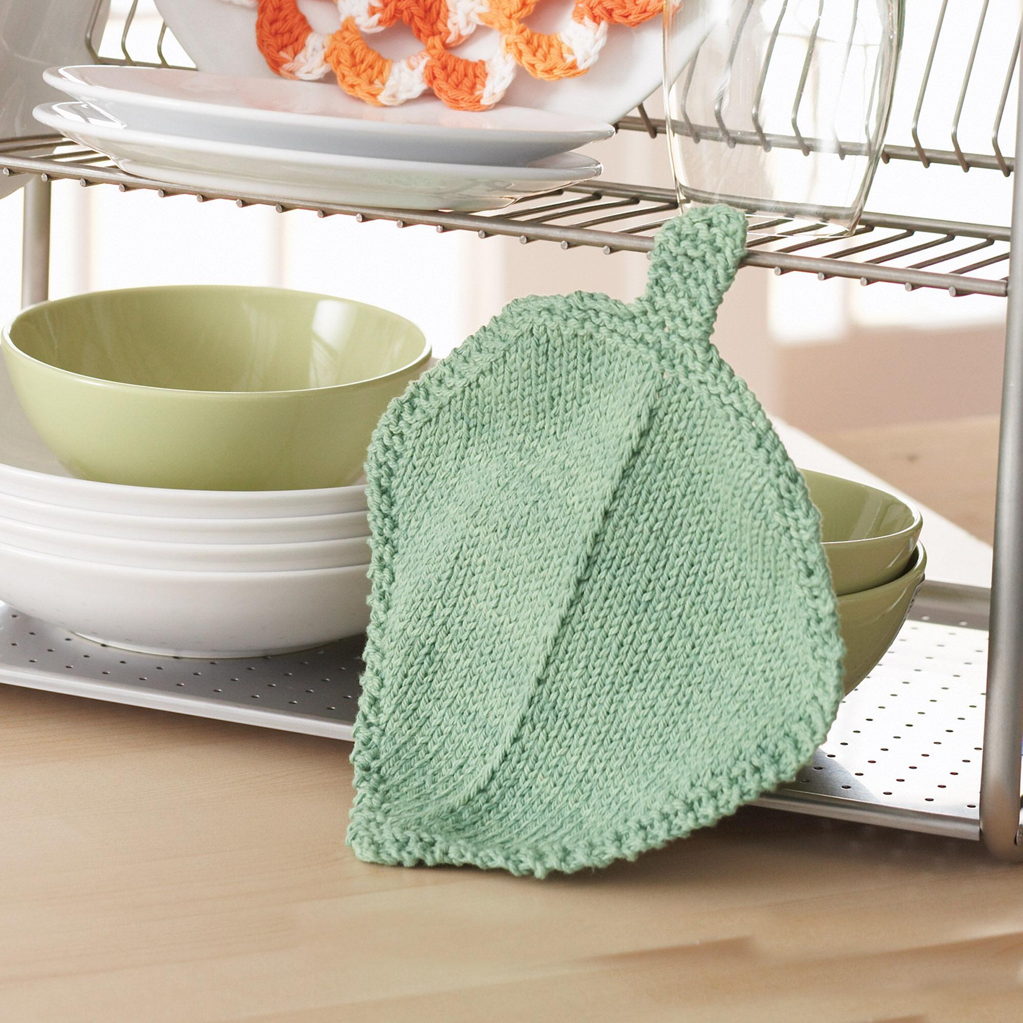 Bernat Garden Leaf Dishcloth | Yarnspirations