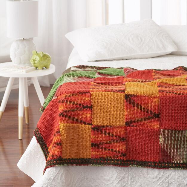 Bernat Woven Blocks Blanket in color