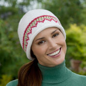 Red Heart Zigzag Hat