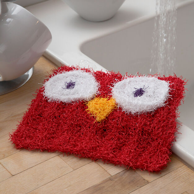 Red Heart Wise Owl Scrubby in color