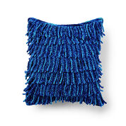 Bernat Waterfall Fringe Crochet Cushion