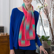 Red Heart Gradient Strip Scarf