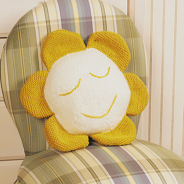 Patons Daisy Pillow, Decor in color