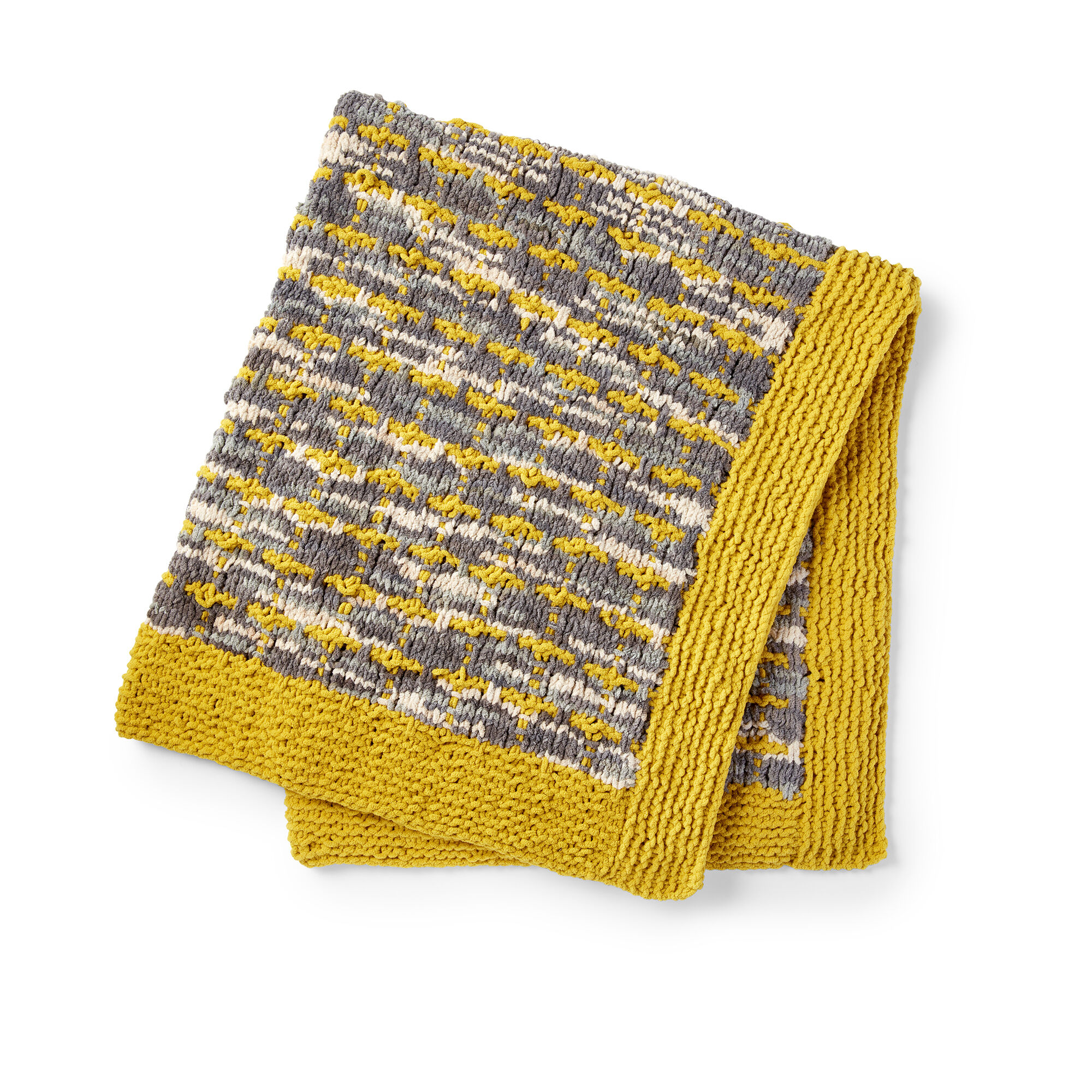 Bernat Gridline Knit Blanket Pattern   Yarnspirations