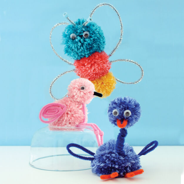 Caron Pompom Critters in color