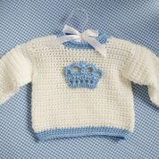 Red Heart Little Prince Crown Sweater, 1 yrs