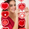 Red Heart Heart Strings Garland in color  Thumbnail Main Image 2}