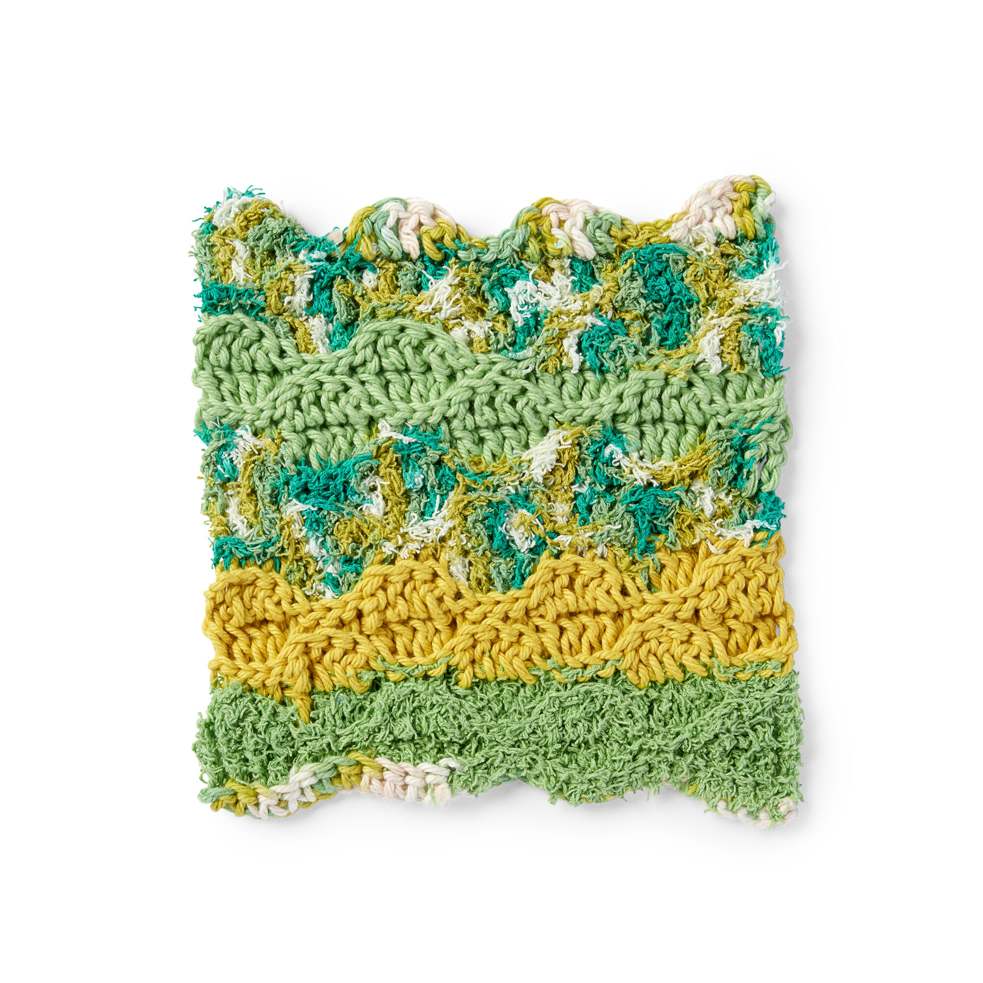 Lily Sugar N Cream Rippling Wave Crochet Dishcloth Pattern Yarnspirations