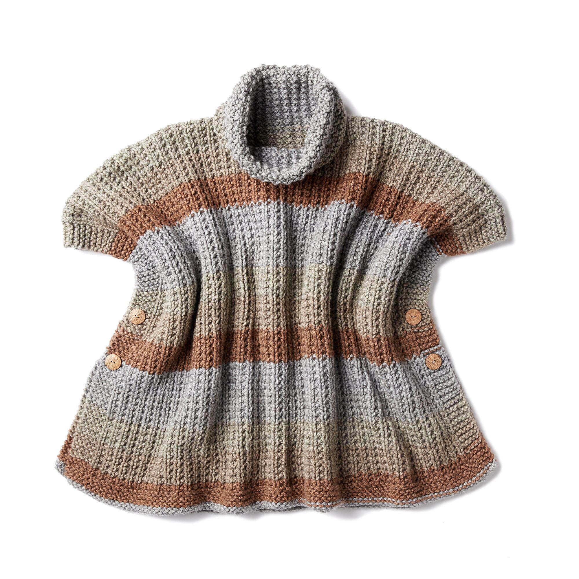 Caron Cozy Up Knit Poncho Pattern Yarnspirations