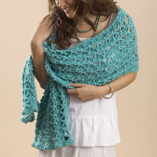 Caron One Skein Summer Wrap in color