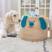 Red Heart Puppy Toy Basket
