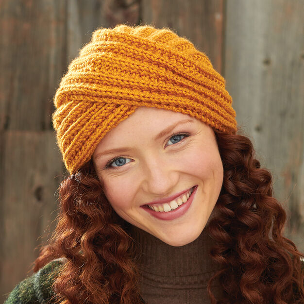 Bernat Turban Twist Hat in color