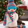 Red Heart Crocheting Snowman in color
