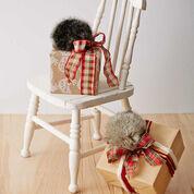 Bernat Fur Pompom Gift Topper, Grey