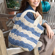 Red Heart Waves Tote Bag