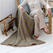 Red Heart Zig-Zag Ease Throw